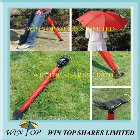 Particular outdoor chair umbrella