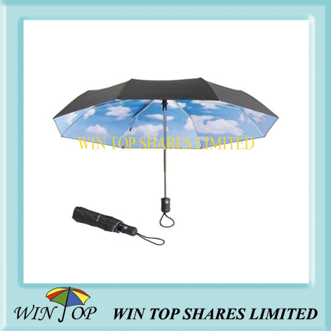double canopies auto open and close umbrella