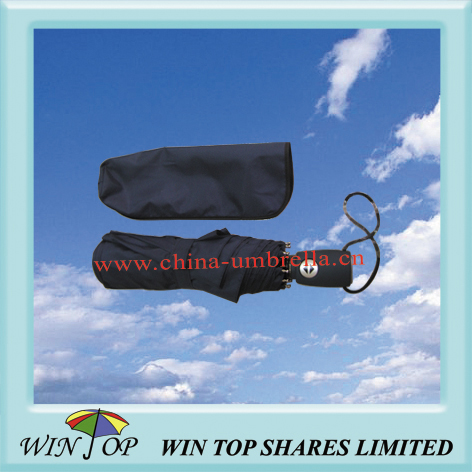 Auto open and close 3 folding parasol
