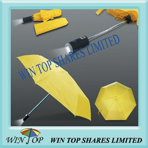 3 folding LED torch umbrella